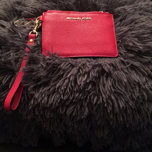 MICHAEL Michael Kors Handbags - A Bright Red Keychain or coin purse